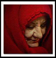old lady in red by Olga-Zervou