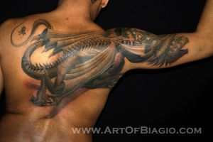Creeping Dragon _ Body Form by artofbiagio