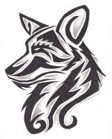 Canine Tribal design by wolfhappy