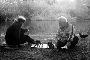 chess in the park by lloydhughes