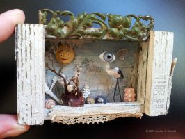 Assemblage: Tiny Eyebird by bugatha1