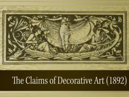 The Claims of Decorative Art by remittancegirl