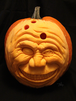 Bowling Ball Pumpkin Head by LongHomeFox