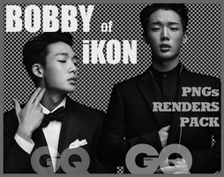 Bobby (iKON) for GQ Korea (PNGs Renders Pack) by Jejegaga