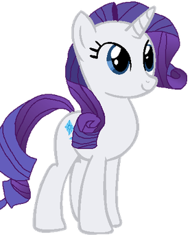 Rarity - First Drawing by SwettiePonyArtist