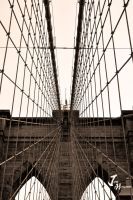 A closer Look At The Brooklyn Bridge by Jonathan-Flash