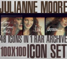 Julianne Moore Icon Set I by haunted-passion
