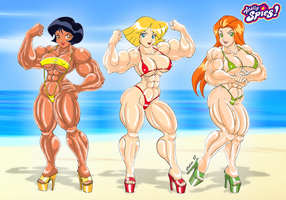 Totally Spies: Mission Beach by Celso33