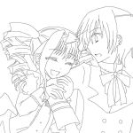 Lizzy xXx Ciel outline by theWhiteDEVIL66
