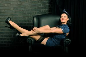 naughty stewardess by LadyOfTheShadow