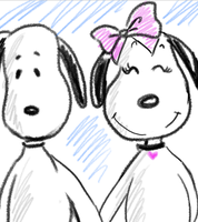 Bell and Snoopy by dieingcity