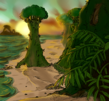 Broccoli Island by The-Bandkanon