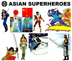 DC Asian Superheroes by StevenEly