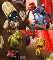 Bots Characters by cdelafuente