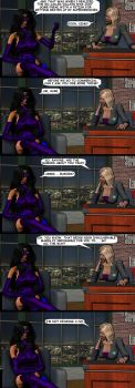 INTERVIEW WITH A SUPERHEROINE by lordcoyote