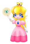 Princess Peach Toadstool transparent by MikariStar