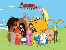 Attack On Titan X Adventure Time by jason1570