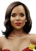 Kerry Washington Portrait by Darkjet9