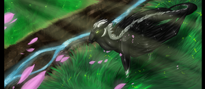 By the Grassy Edge by Dark-Spine-Dragon