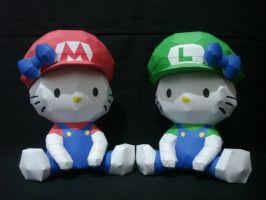 Hello Kitty Mario Bros by fezco