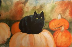 Halloween Cat by Magan1996