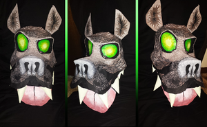 Wolfos Mask by silverfangcreations