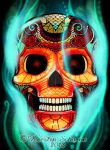 end up in smoke - skull by KerstinS
