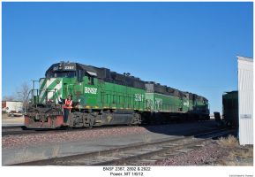 BNSF 2367, 2892 + 2922 by hunter1828