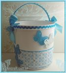 Blue bucket by KarenKaren