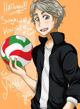 [AT] Haikyuu!! - Sugawara Koushi by XxMoonDropsxX