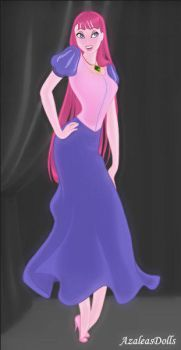 Princess bubblegum Jessica Rabbit Style by Doodlechick13
