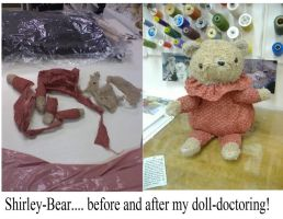 Shirley Bear Repair by thedollmaker