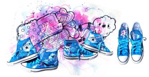 Retro Rainstorn Hightops by marywinkler