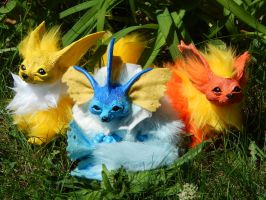 Eevee Evolutions Pokemon Art Dolls by DLChart