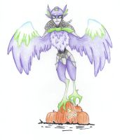 MGC Harpy - Halloween -7 by REDDISH-MUSE