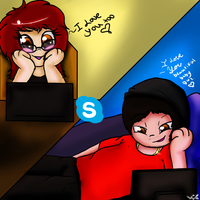 Skypeing With You by Mariatiger