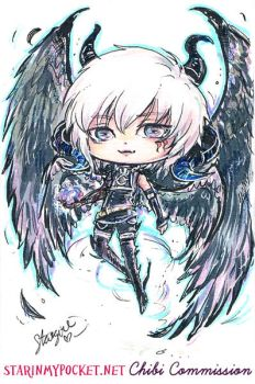 Azazel Chibi Commission by StarMasayume