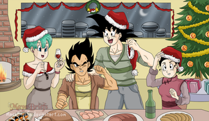 Merry Christmas - Dragon Ball by mayabriefs
