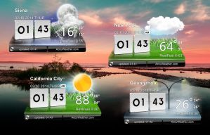 LG Optimus 2X Weather Original Widget for xwidget by jimking
