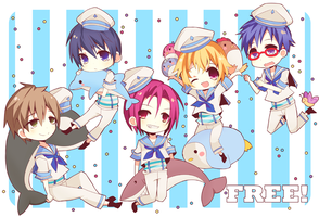 Free! - Sailor Fuku by RabuRabbit