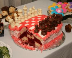 Chess Cake Insides by prismkitty