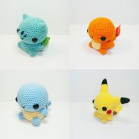 Kanto Starter by Heartstringcrochet
