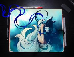 Moleskine: Ninetailed by Kate-FoX