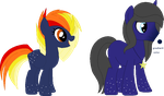 CUSTOMS: Fire Sparks and Stars/Darkness and Space by iAP0C0LYPTIK