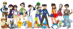 DCMK Pokemon Trainers Group by SharaRaizel
