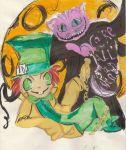 Mad Hatter and Chesire Cat by KatelynCapybara