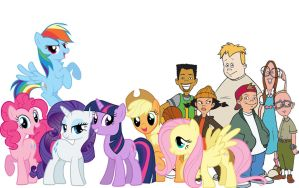 Similar Six friends by conthauberger
