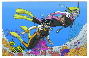 Endless Ocean - Coloring Commission by BlueHedgehog25