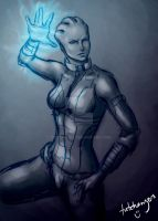 Liara T'soni by trixdraws