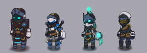 Spiral Knights [The Alpha Squad] by BlazingCobalt